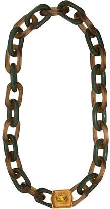 Marni Vertigo hexagonal-ornament long necklace