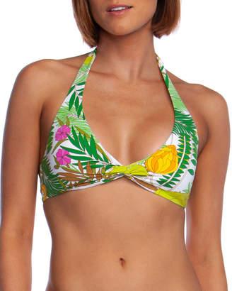 Trina Turk It's Bananas Twist-Front Halter Bikini Top