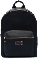 Paul Smith Navy Canvas and Leather Backpack