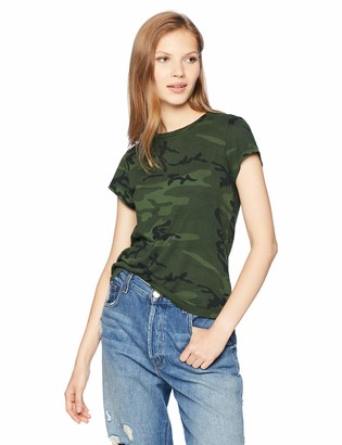 Pam & Gela Women's Camo Short Sleeve Basic Tee