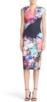Ted Baker 'Brynee' Floral Print Neoprene Sheath Dress