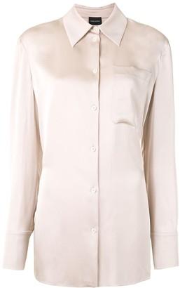 Magda Butrym Long Sleeve Silk Shirt