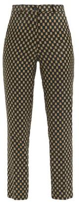 Etro Capri Jacquard Tailored Trousers - Black Multi