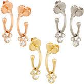 Disney Diamond Mickey Mouse Hoop Slider Earrings - 14K