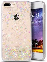 iPhone 7 Plus Case,iPhone 7 Plus Bling Glitter TPU Case,PHEZEN Shiny Sparkling Glitter Hexagonal Star Flexible Soft Rubber Gel Clear TPU Cases Silicone Back Case for iPhone 7 Plus 5.5""