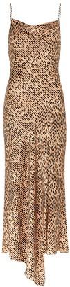 Alice + Olivia Harmony leopard-print satin maxi dress
