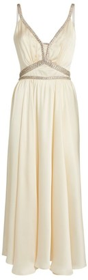 Paco Rabanne Crystal-Embellished Midi Dress