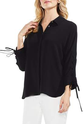 Vince Camuto Lace-Up Sleeve Blouse (Regular & Petite)