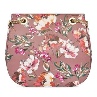 Kennedy Flap Saddle Crossbody - Floral Meadows