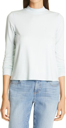 Eileen Fisher Mock Neck Long Sleeve Top