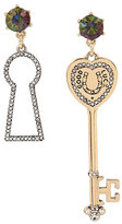 Betsey Johnson Lucky Charms Key Mismatch Earrings