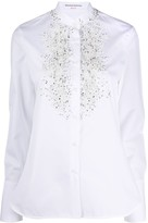 Ermanno Scervino beaded lace embroidered shirt