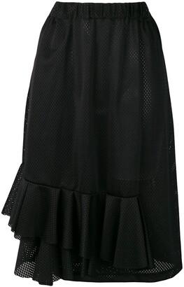 Comme Des Garçons Pre Owned Frilled Mesh Skirt
