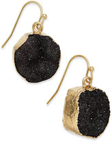 INC International Concepts Gold-Tone Druzy Crystal Earrings, Only at Macy's