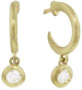 Tate Circle Diamond Drop Hoop Earrings