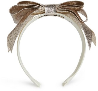 Hucklebones London Metallic Bow Headband