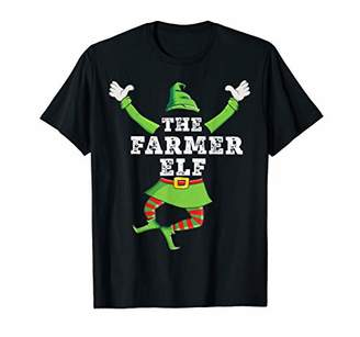 Farmer Elf Matching Family Group Christmas Party Pajama T-Shirt