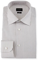 Ermenegildo Zegna Box-Check Trofeo Dress Shirt, Brown
