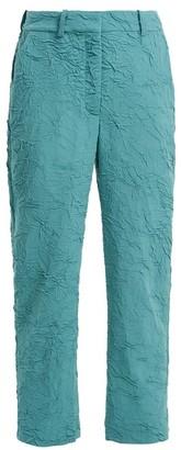 Sies Marjan Willa Crinkled Wool-blend Trousers - Womens - Blue