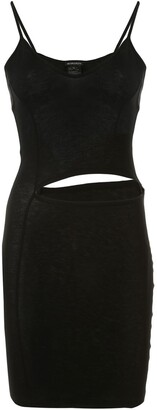 Ann Demeulemeester Cut-Out Waist Jersey Mini Dress