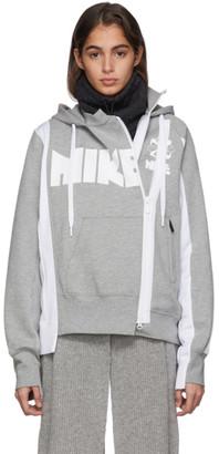 Nike Grey and White Sacai Edition NRG NI-60 Hoodie