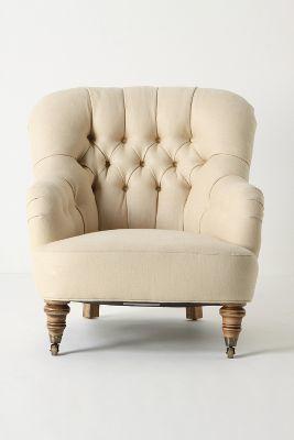 Anthropologie Linen Corrigan Chair