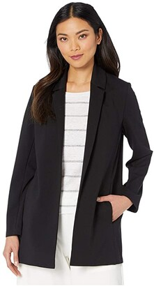 Eileen Fisher Notch Collar Jacket (Black) Women's Coat