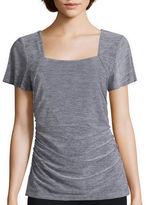 Alyx Short-Sleeve Squareneck Knit Top