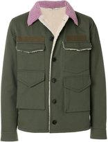 Valentino military jacket with back slogan