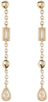 Bony Levy 18K Gold Maya Geometric Shape Diamond Drop Earrings - 0.12 ctw