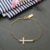 Anna Lou of London Engraved Cross Bracelet