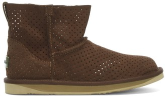 Australia Luxe Collective Woodstock Short Brown Suede Perforated Ankle Boots
