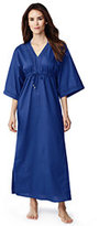 Classic Women's Maxi Caftan Cover Up-Mystic Blue Floral