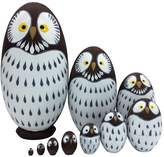 xlpace Kids Toy 10 Layers Nesting Dolls Wooden Cute Owl Painted Russian Doll Matryoshka Hand-painted Toys Home Decoration Gifts