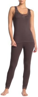 Josie Natori Lace Trim Lounge Pajama Pants