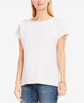 Vince Camuto TWO By Cotton Frayed-Trim Top