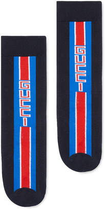 Gucci Kid's Logo Stripe Socks