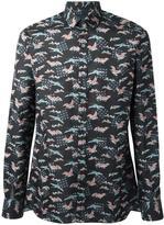 Lanvin Evolutive Cranes print shirt - men - Cotton - 43