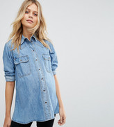 Asos Boyfriend Shirt In Anouki Wash