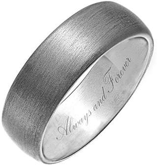 Theia Titanium, Matted, Engraved 'Always and Forever' - 7mm Ring - Size V