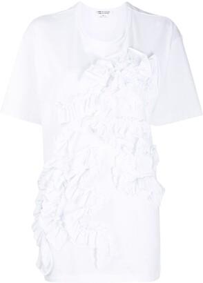 Comme des Garçons Comme des Garçons ruffled cotton T-shirt