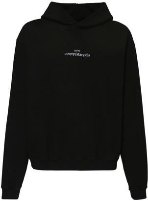 Maison Margiela Logo Embroidery Cotton Hoodie