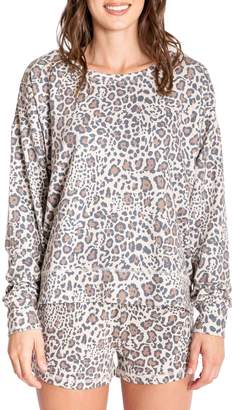 PJ Salvage Wild Heart Leopard-Print Pyjama Top