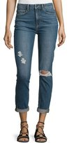 Paige Carter Slim-Leg Harvey Destructed Jeans, Blue