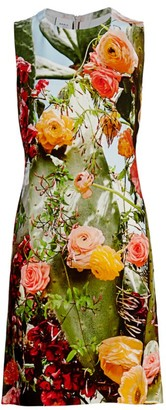 Akris Punto Cactus Blossom Print Shift Dress