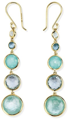 Ippolita 18kt yellow gold long Lollipop Lollitini 5 stone drop earrings