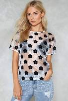 Nasty Gal I'll Be Seeing You Sheer Floral Tee