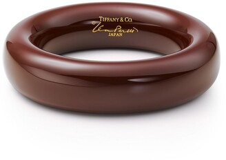 Tiffany & Co. Elsa Peretti bangle in brown lacquer over Japanese hardwood, medium