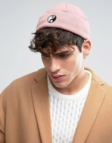 Asos Mini Fisherman Beanie With Yin And Yang Embroidery