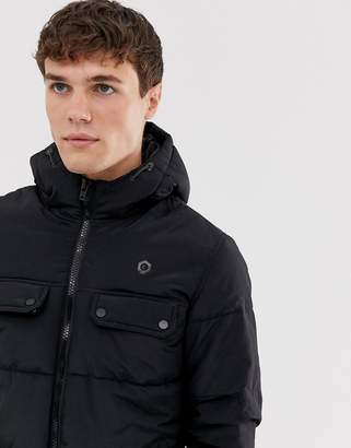 Jack and Jones puffer jacket in black